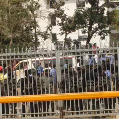 ANGRY PROTESTERS VANDALISES MTN'S OFFICE IN ABUJA OVER XENOPHOBIC ATTACKS IN SOUTH AFRICA