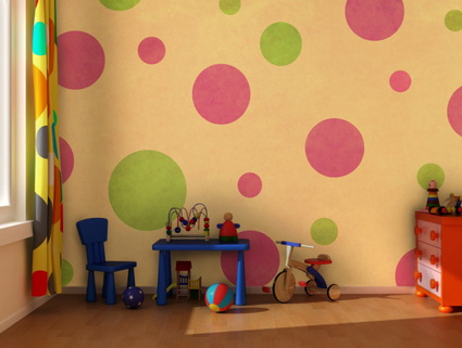Children's decor with wall paintings 4