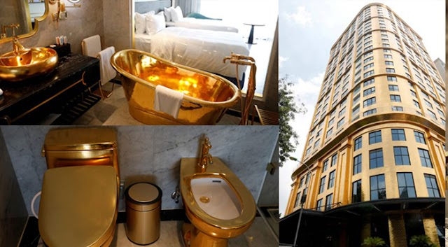 Inside World's First Hotel Made of Gold from Floor to Closet; How Much for an Overnight Stay?