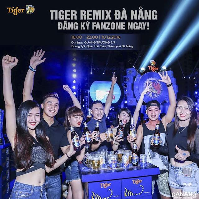 Đại nhạc hội Tiger Remix Đà Nẵng 2016: 'Đánh Thức Mùa Xuân'
