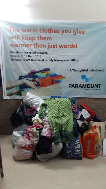 PARAMOUNT FLORAVILLE RESIDENTS DONATES WINTER WEAR TO NGO