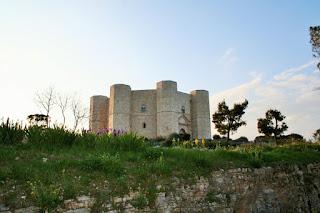 castello, collina, cielo, erba