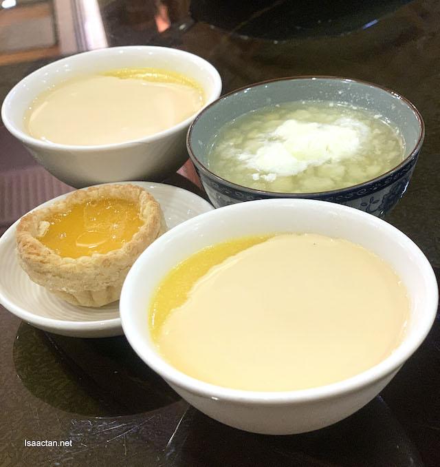 Egg tarts amidst dessert