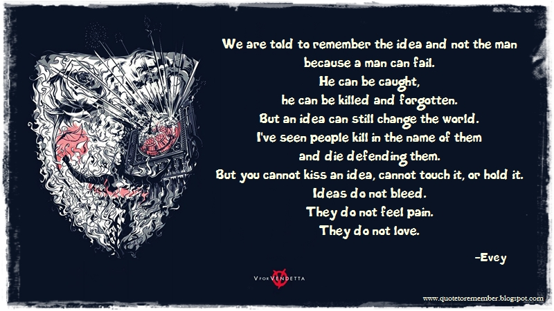 Quote To Remember V For Vendetta 2006