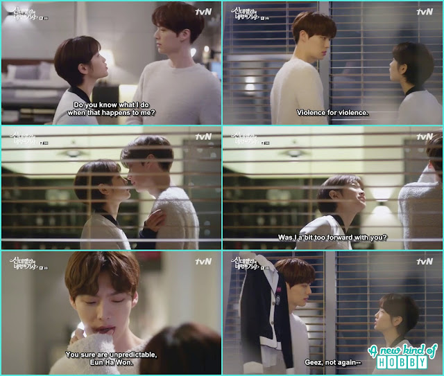 ha won hit hyun min nose all acted like she is kising  - Cinderella and 4 Knights - Episode 3 Review