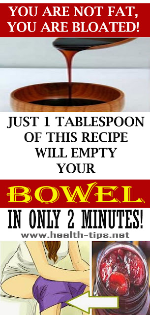 Only 1 Tablespoon Of This Recipe Can Empty Your Bowel In Just 2 Minutes!#NATURALREMEDIES