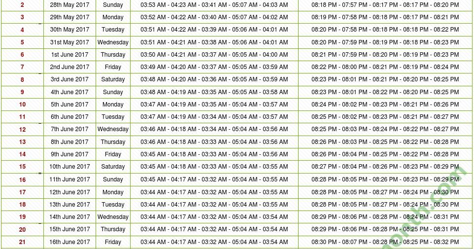 Image Result For Ramadan Calendar Houston