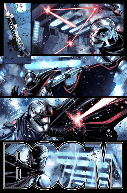 The First Order Strikes Back! Your First Look at JOURNEY TO STAR WARS: THE LAST JEDI – CAPTAIN PHASMA #1!