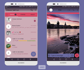 River Theme For YOWhatsApp & Fouad WhatsApp By Ameen Suliman