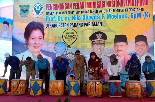 PIN Polio Padangpariaman: Komitmen Indonesia Menuju Dunia Bebas Polio 2020