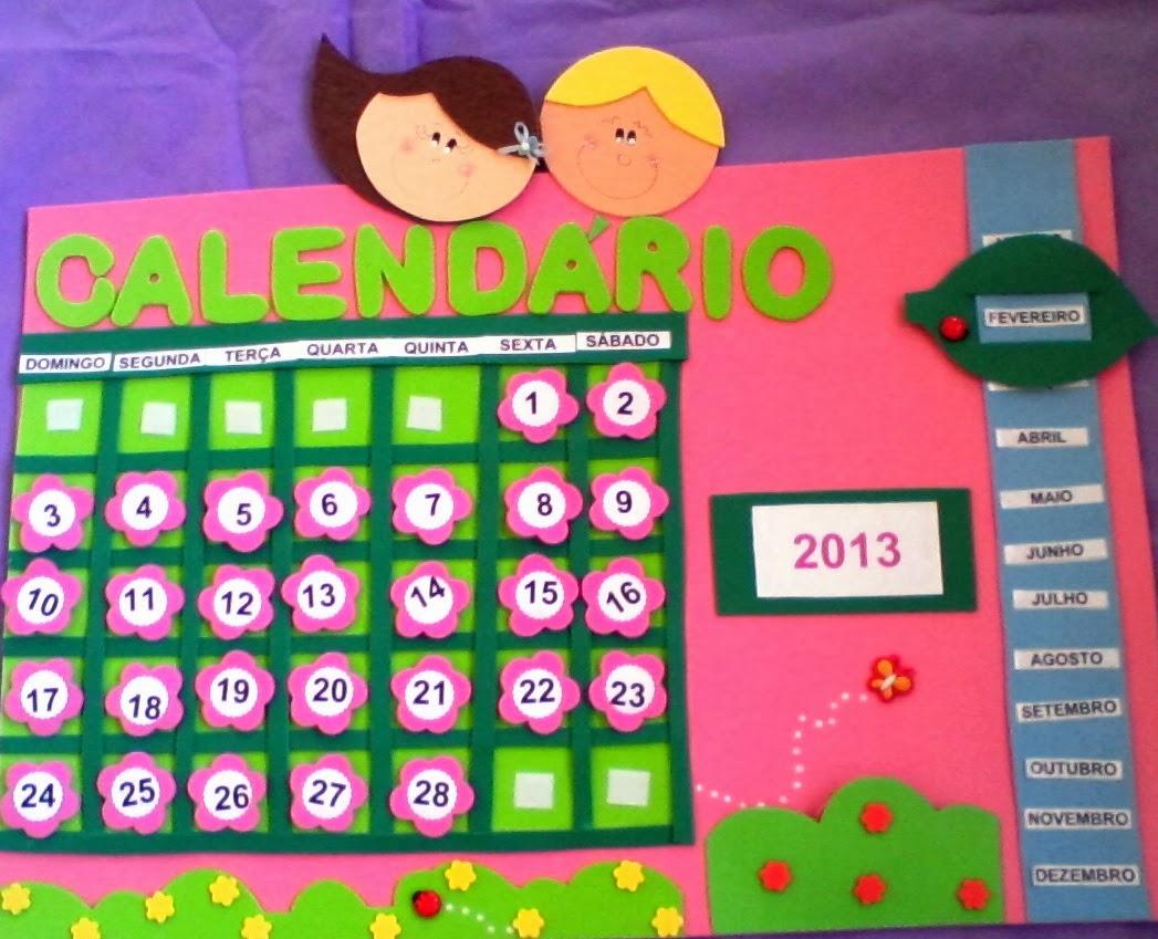 Calendario Para Kinder.El Arte De Educar Calendarios Con Goma Eva