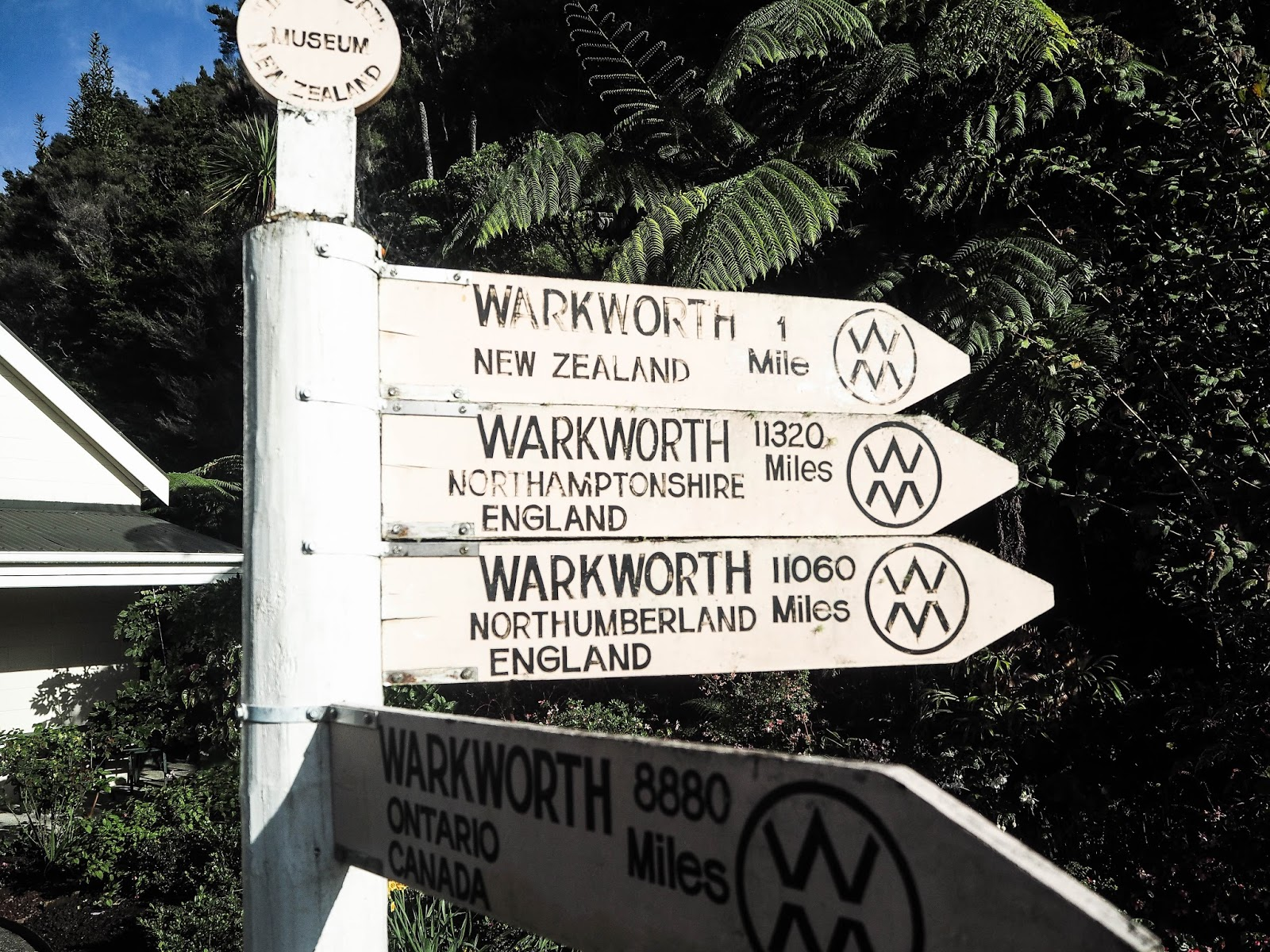 Warkworth sign, New Zealand