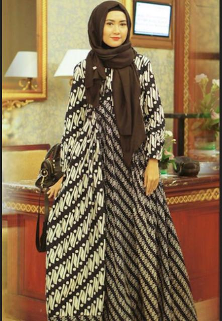 model baju batik pesta untuk wanita gemuk