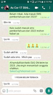 Testimoni Sales CUG Telkomsel 27 Desember 2017