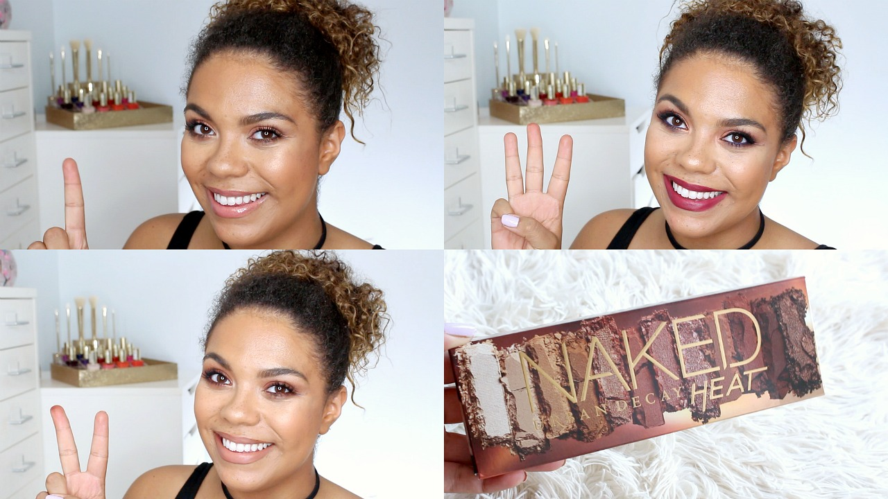 3 looks 1 palette using urban decay naked heat