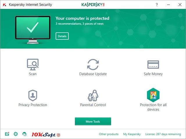 Kaspersky Internet Security 2018 Offline Setup Free Download