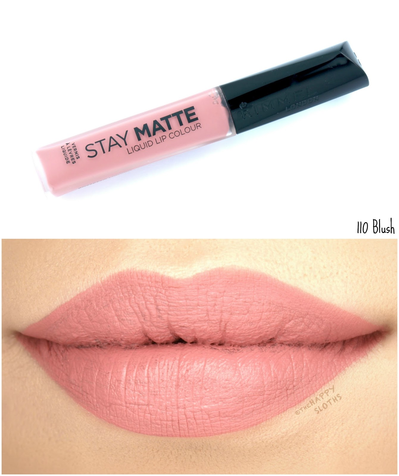 Rimmel London Stay Matte Liquid Lip Colour | 110 Blush: Review and Swatches