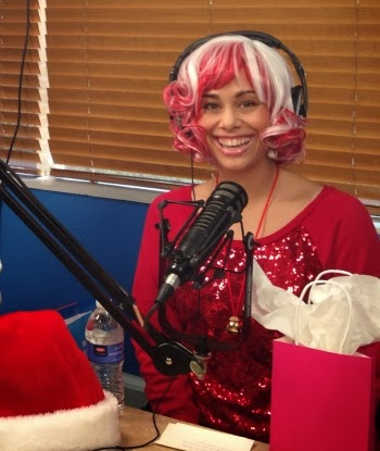 Candycane Claus on the air at UBN Radio in Hollywood!