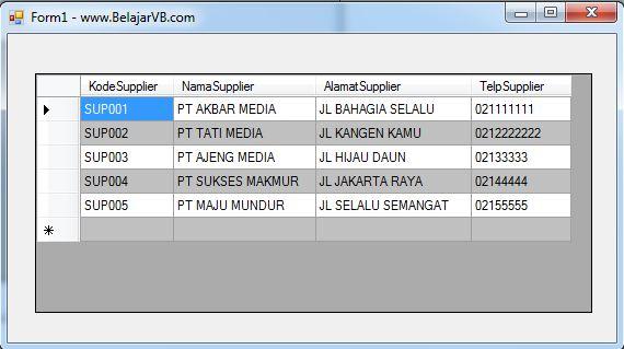 Belajar VB .Net 2012 - Cara Koneksi Database Access 2003 ( .mdb )