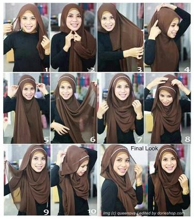 Tampil Maksimal Saat Ke Pesta Dengan Tutorial Hijab Modern Pashmina Sifon Terbaru