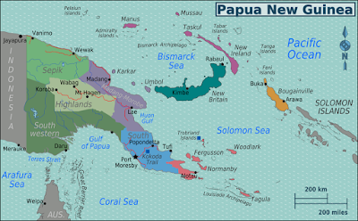 Climbing My Family Tree: Map of Papua New Guinea By Burmesedays CC BY-SA 3.0  via Wikimedia Commons