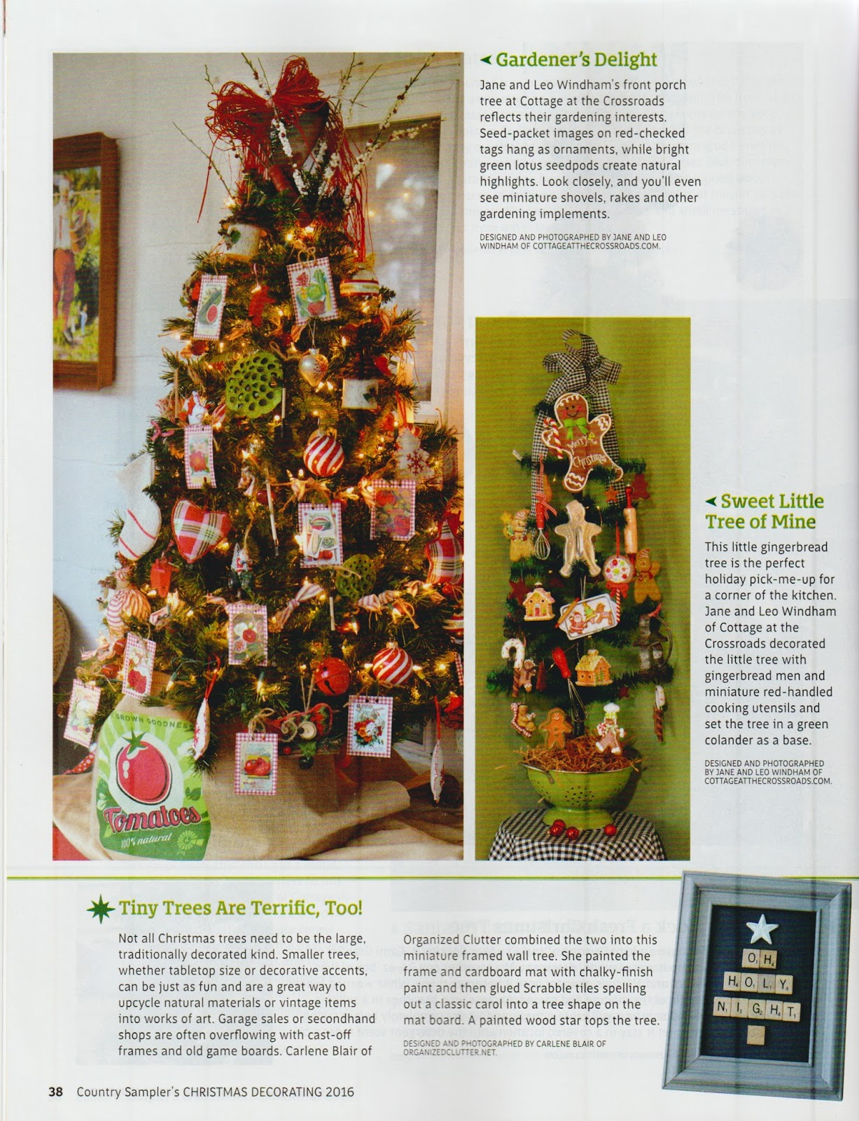 Two features in country samplers christmas decorating magazine one of the features was my scrabble tile framed christmas tree this project was easy and fun and if you would like to make one for yourself the project solutioingenieria Images