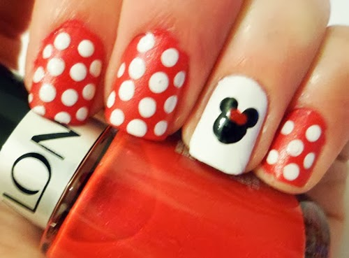 diseno unas minnie mouse