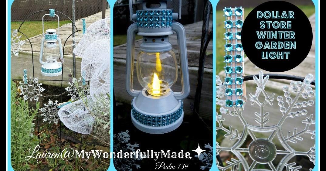 """Wonderfully Made"": Dollar Store Garden Decor"
