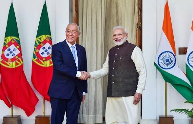 पुर्तगाली राष्ट्रपति ने की प्रधानमंत्री मोदी से मुलाकात