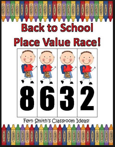 Fern Smith's Place Value Race Back to School Theme