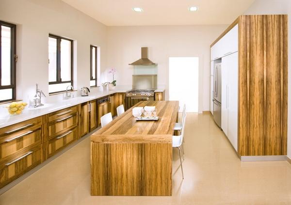 Dapur modern memanjang