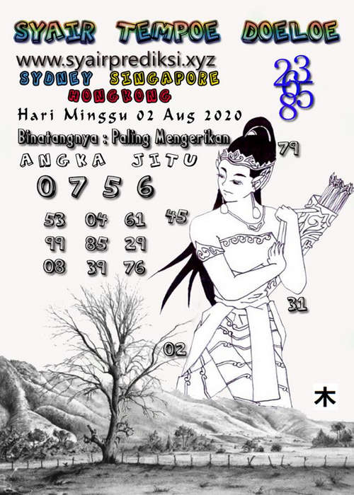 Kode syair Hongkong Minggu 2 Agustus 2020 199