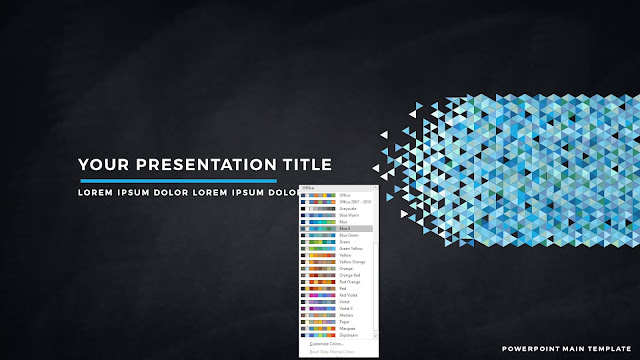 Polygonal Presentation Title Background Free PowerPoint Template with Blue2 Color Scheme
