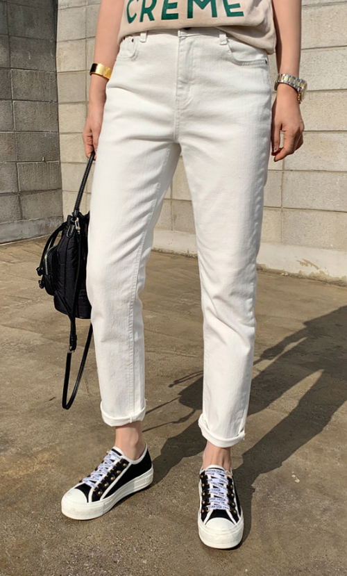 Brushed Lining Semi-Elastic Waist Pants