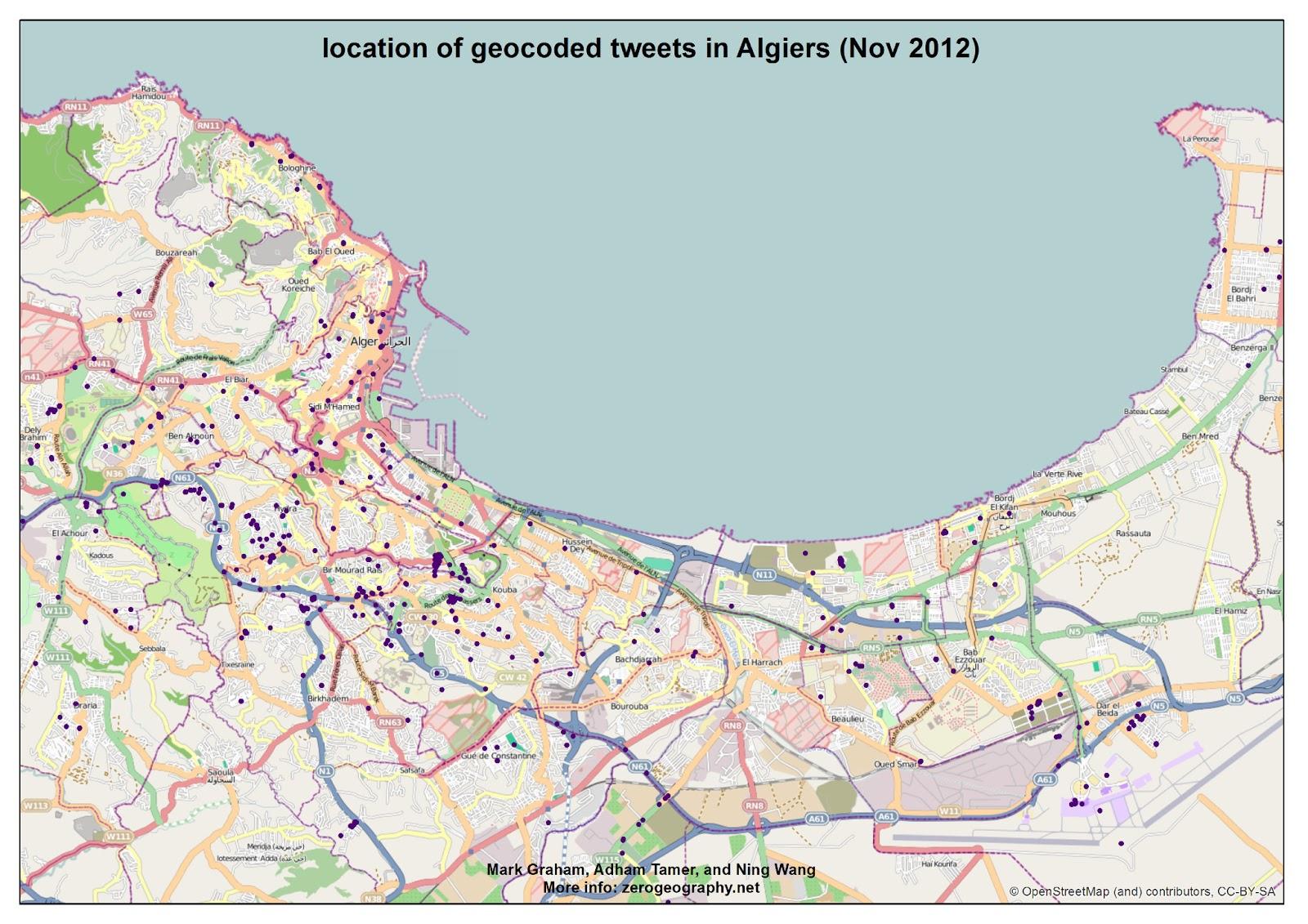 Francophone Africa Map.Mapping Twitter In Francophone Africa Mark Graham