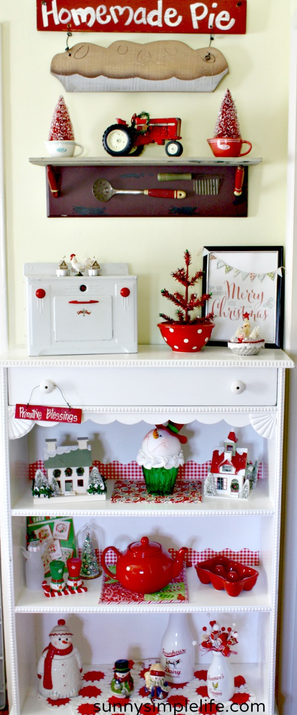 Christmas shelf, Christmas sign, Christmas scene