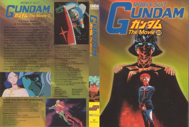Capa DVD Mobile Suit Gundam The Movie 3