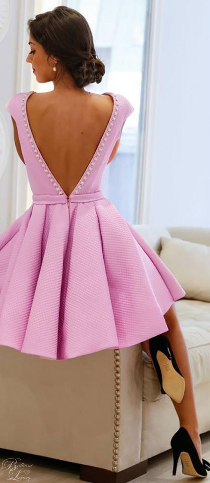 Brilliant Luxury ♦ Silvia Navarro pink Batista dress