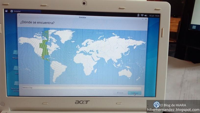 Seleccionamos nuestro país para continuar con la instalación - El Blog de HiiARA