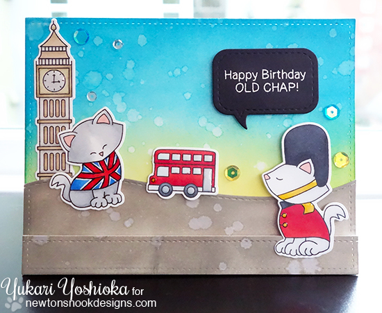 London card by Yukari Yoshioka | Newton Dreams of London stamp set by Newton's Nook Designs #newtonsnook #london