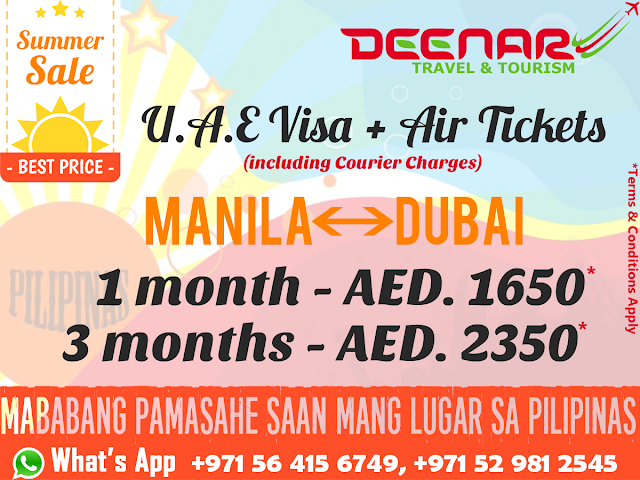 manila to dubai uae visa flight tickets