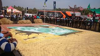 3D street Art Mountain Dew, 3D street painting India, 3D street Artist India, 3D chalk painter India, India Bike Week 2016 Goa