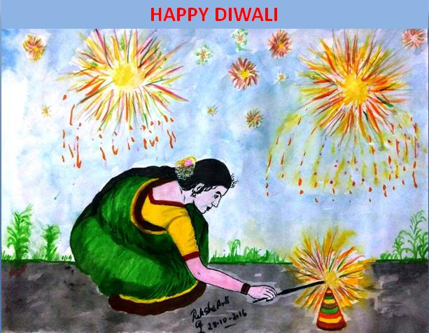 PENCIL DRAWING - DIWALI FESTIVAL