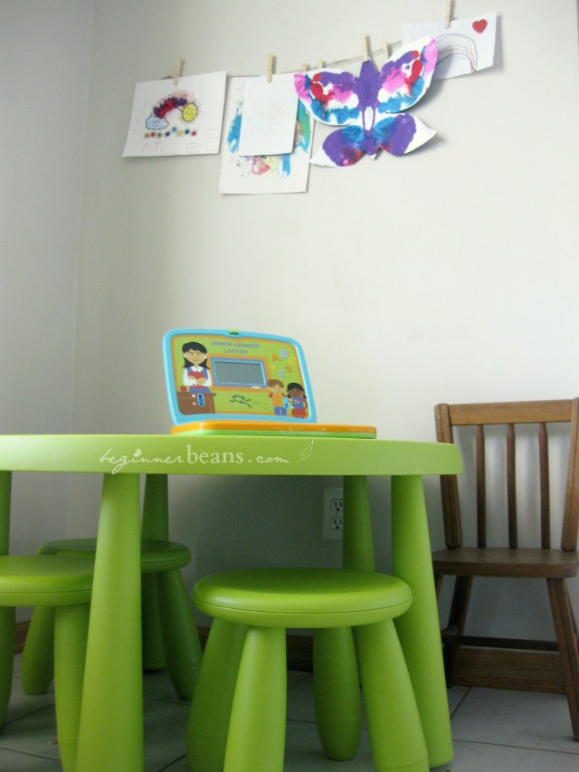small spaces with kids: workspace to call their own