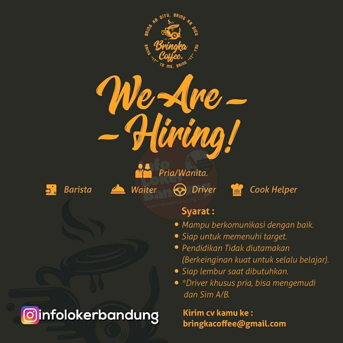 Lowongan Kerja Bringka Coffee Bandung Januari 2019