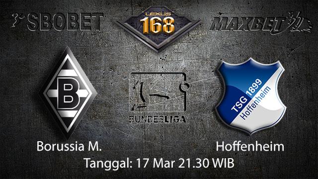 BOLA88 - PREDIKSI TARUHAN BOLA BORUSSIA MONCHENGLADBACH VS HOFFENHEIM 17 MARET 2018 ( GERMAN BUNDESLIGA )