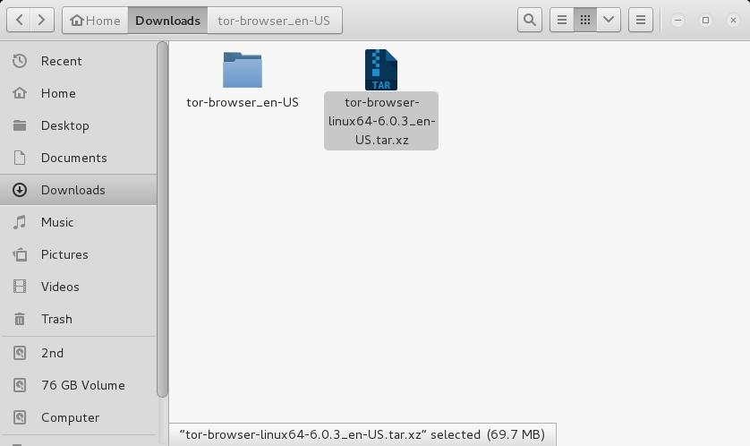 "Maka anda akan mendapati sebuah folder bernama ""tor-browser_en-US ..."