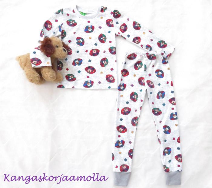 pyjaman ompelu