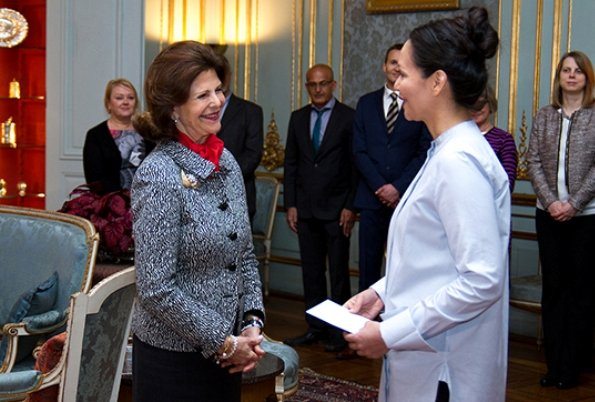 Queen Silvia presented scholarships awards from Queen Silvia's Jubilee Fund for Research on Children