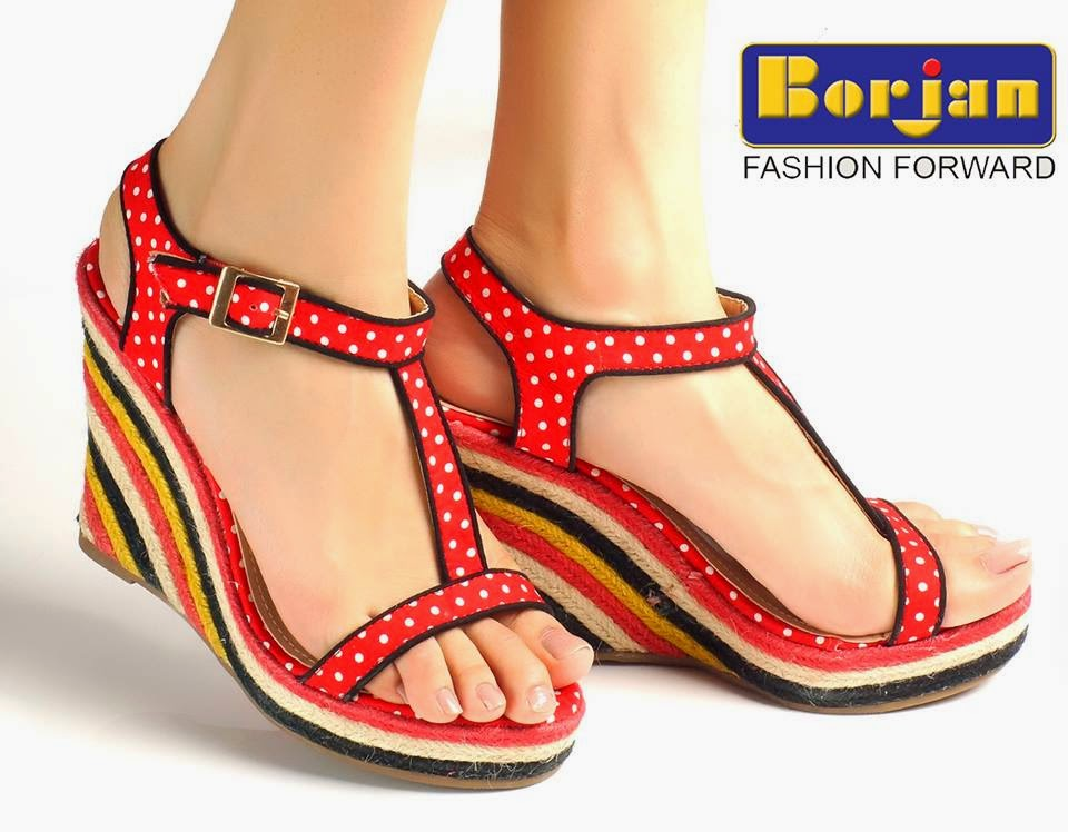 summer wear shoes collection for girls by borjan from 2014